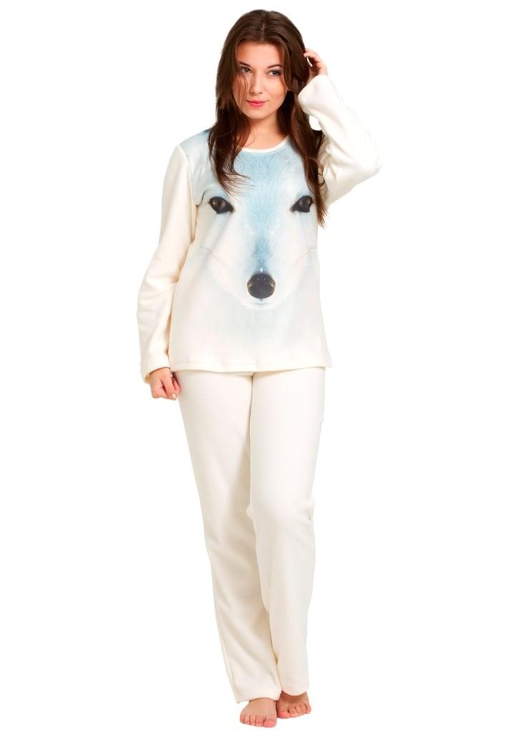 Dámské fleecové pyžamo s obrázkem psa