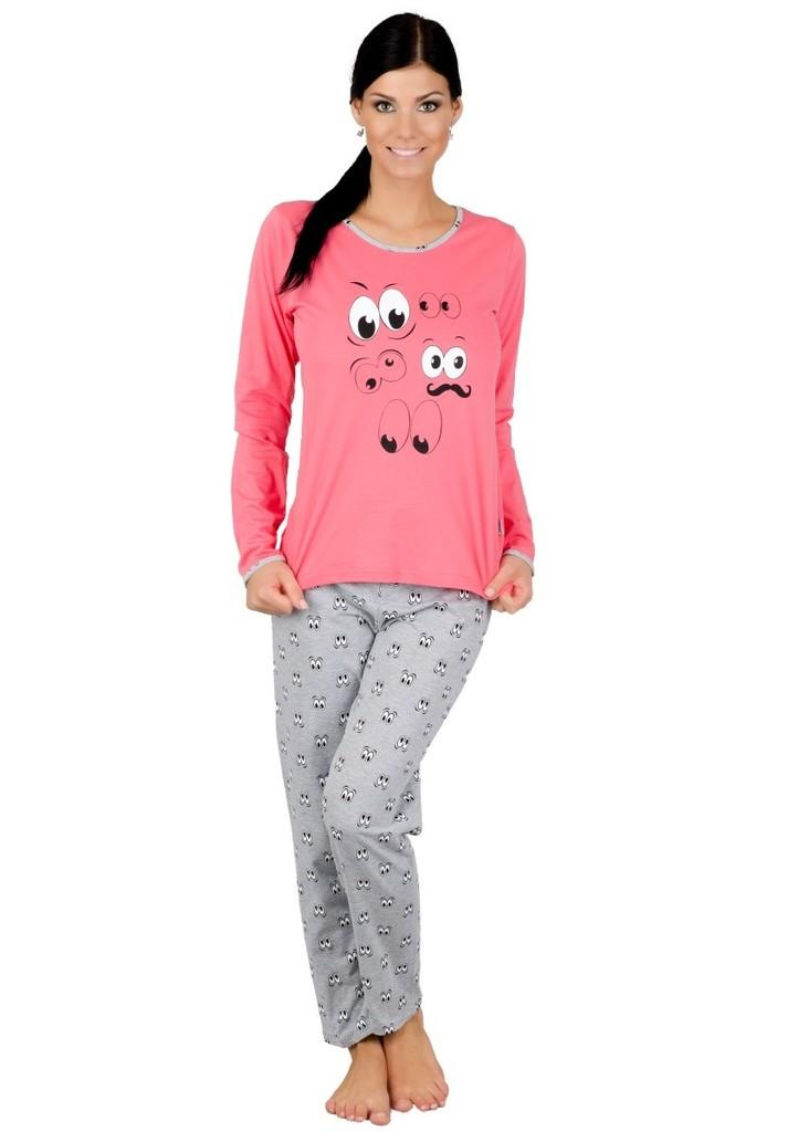 Dámské pyžamo s obrázkem očí