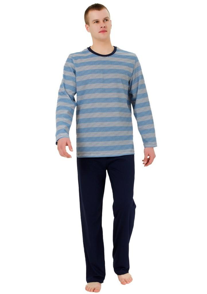 Pánské pyžamo se vzorem barevného pruhu