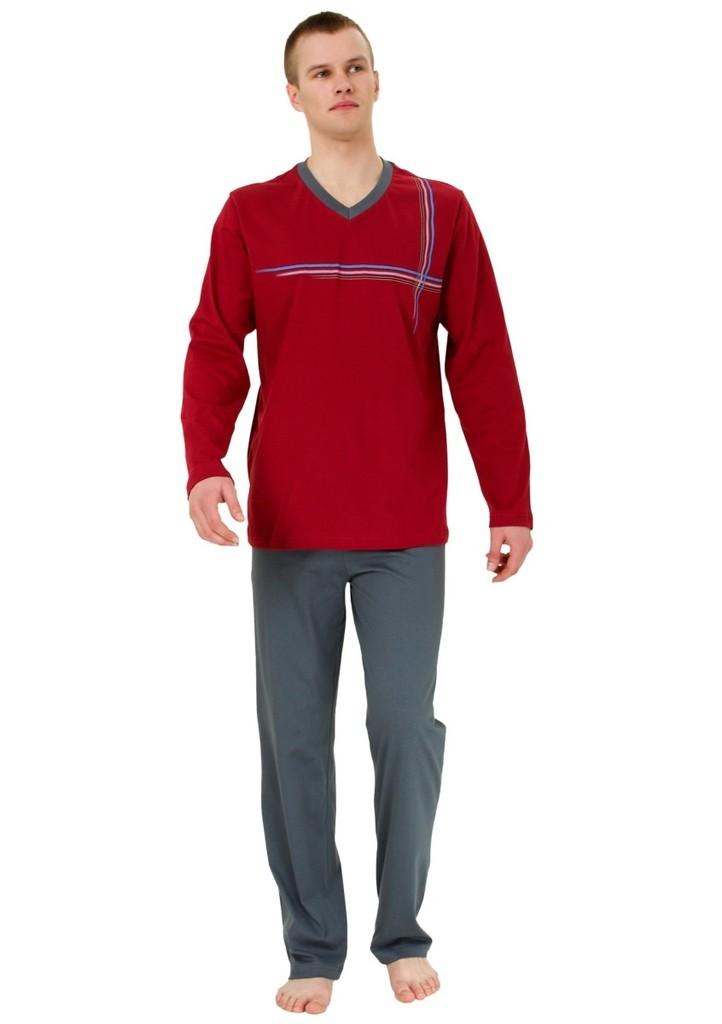 Pánské pyžamo s barevnými proužky