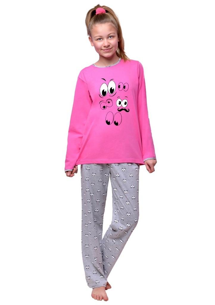 Dívčí pyžamo s obrázkem očí
