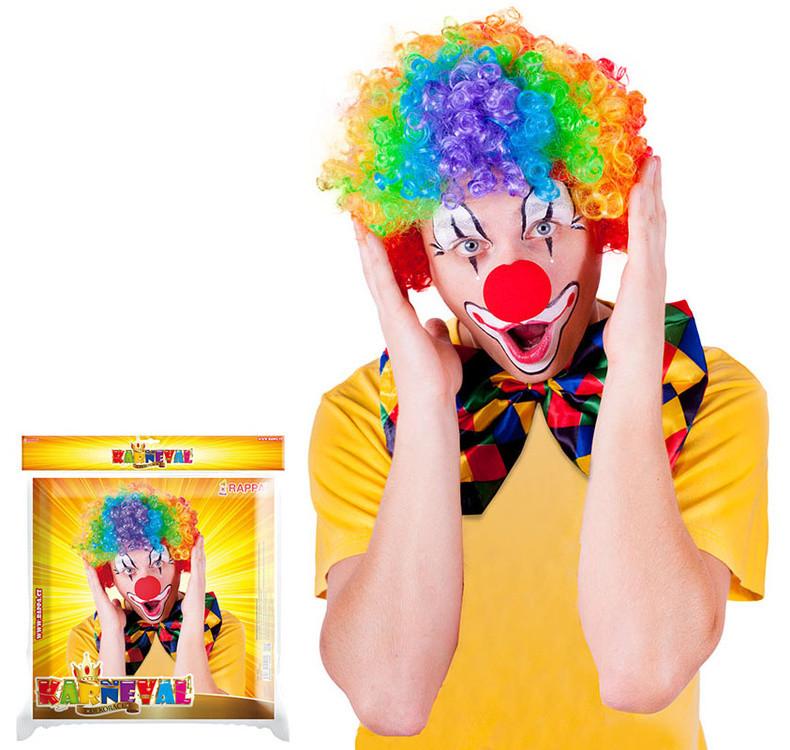 Paruka klaun  barevná