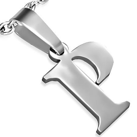 Ocelové přívěsky - písmeno P th-pac436