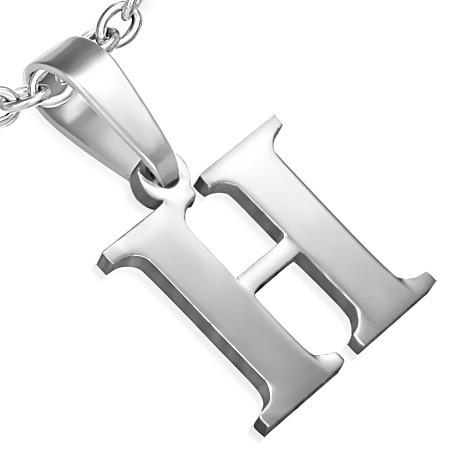 Ocelové přívěsky písmena - H th-pac428