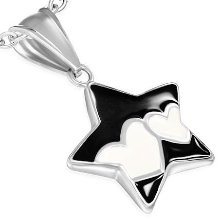 Ocelový přívěsek Hvězda th-pcx142