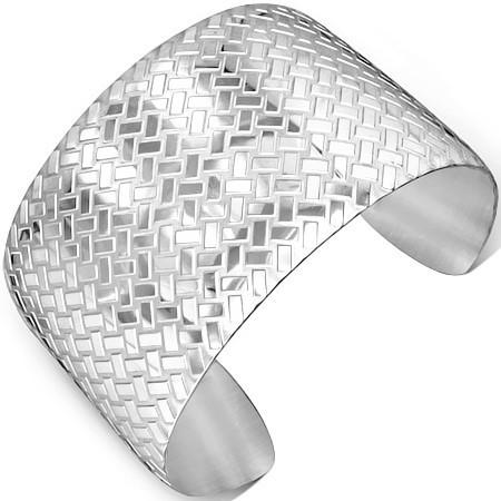 Široký náramek z chirurgické oceli th-btn279