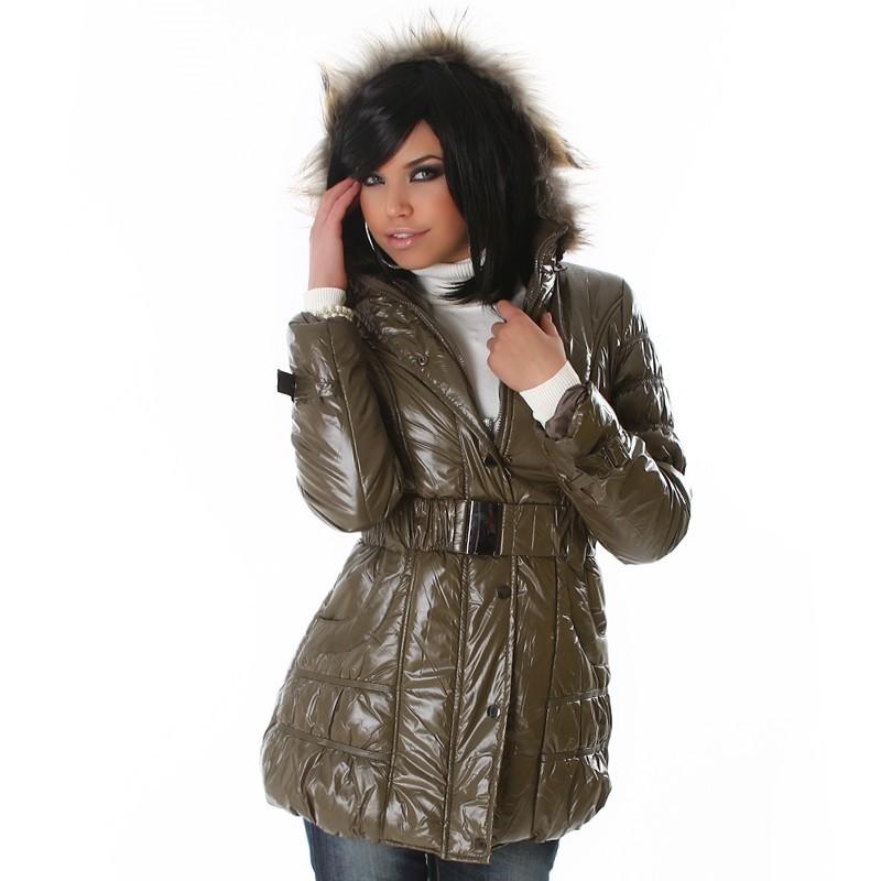 Dlouhá dámská bunda l-bu013ar