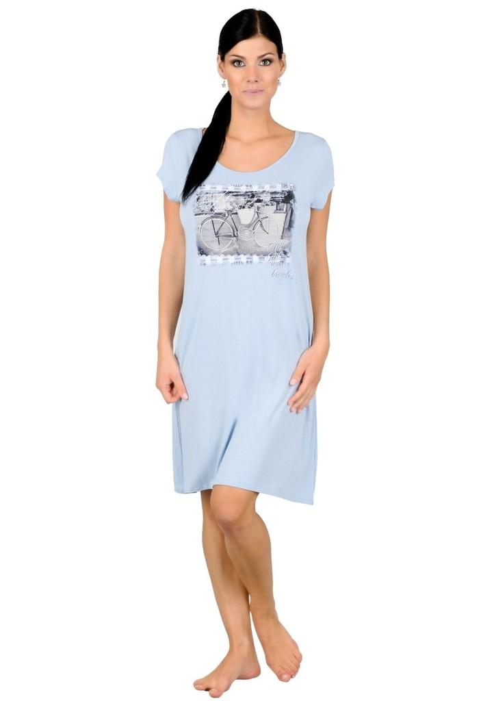Dámská noční košile s obrázkem dámského kola