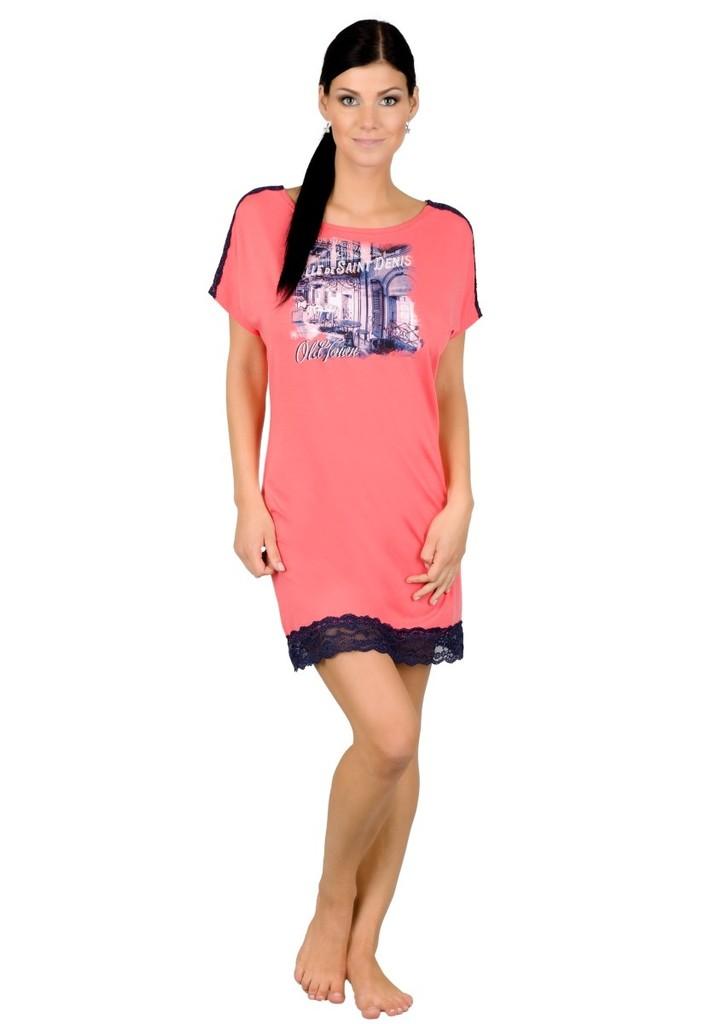 Dámská noční košile s obrázkem starého města