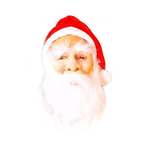 Maska Santa s čepicí a vousy