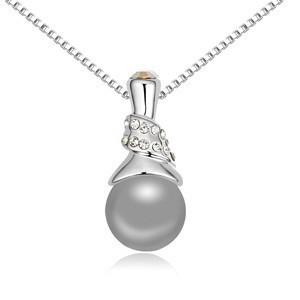 Řetízek s perlovým přívěskem sw-282bl