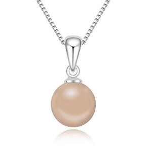 Syntetická perla s řetízkem sw-281be