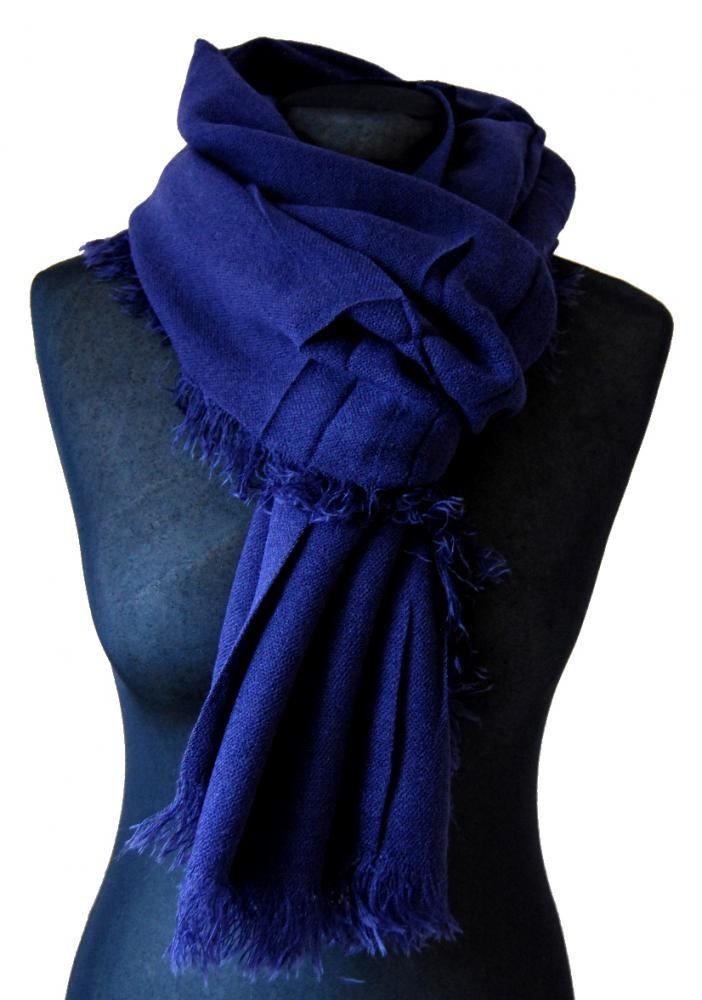 Šála 9316 tmavá modro-fialová