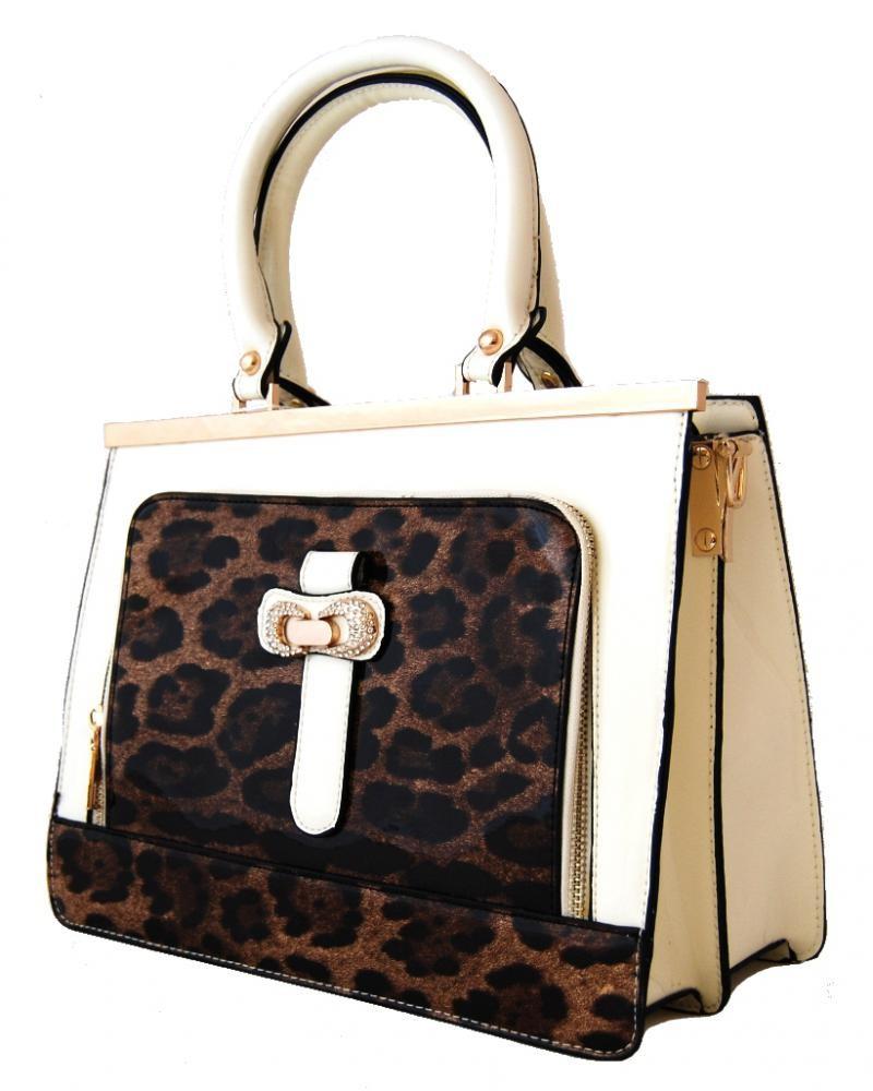Elegantní lesklá béžová kabelka do ruky fasco Berlin 2002-1032