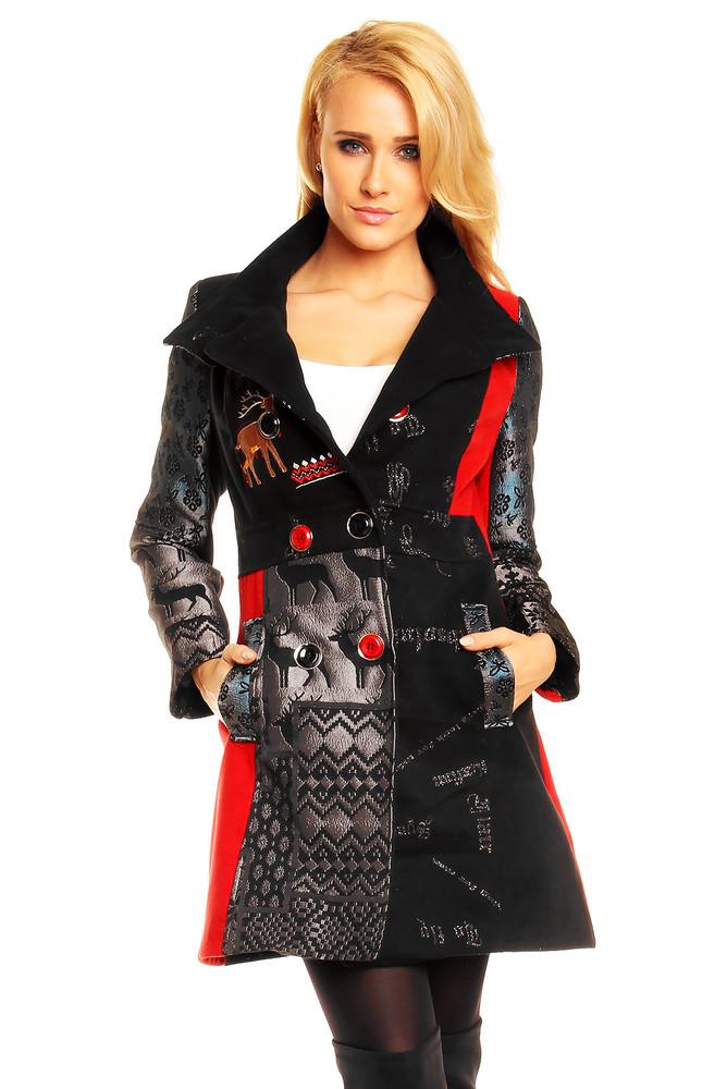 Dámský barevný kabát hs-bu096