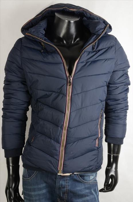 Pánská zimní bunda -modrá p-bu010mo