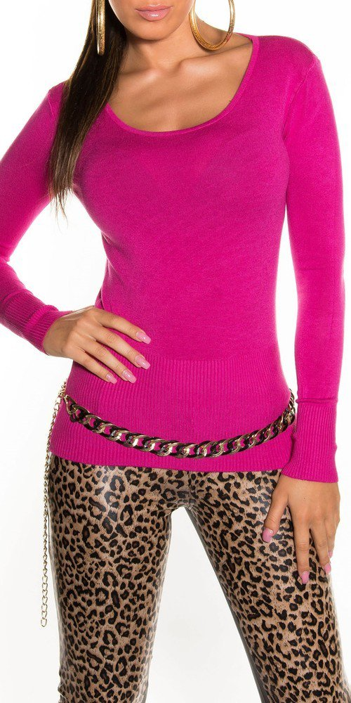 Pulovr dámský - růžový in-sv081pi