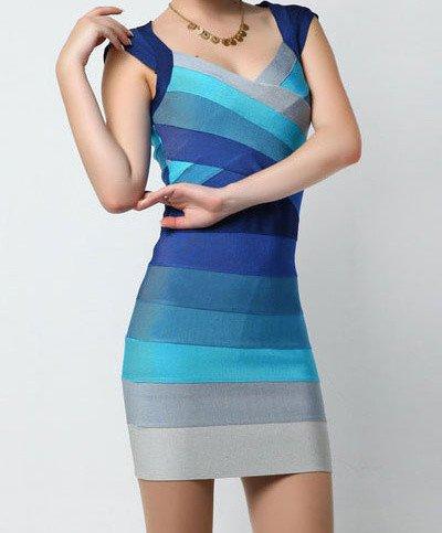 Zeštíhlující šaty blue d-sat379