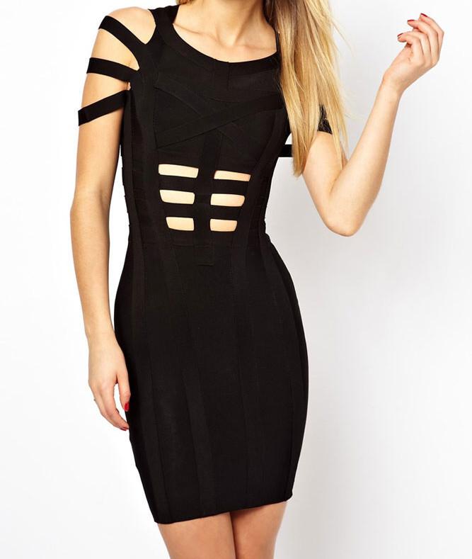 Zeštíhlující šaty d-sat375bl