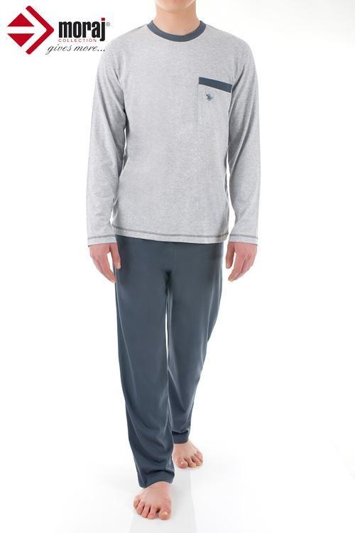 Pánské pyžamo PDM 3700-001 melange-grafit