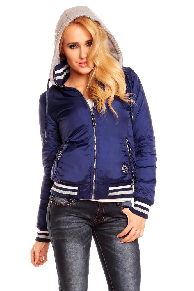 Dámská zimní bunda modrá hs-bu104mo