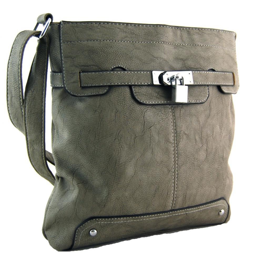 Crossbody kabelka se zámečkem S0708 šedá