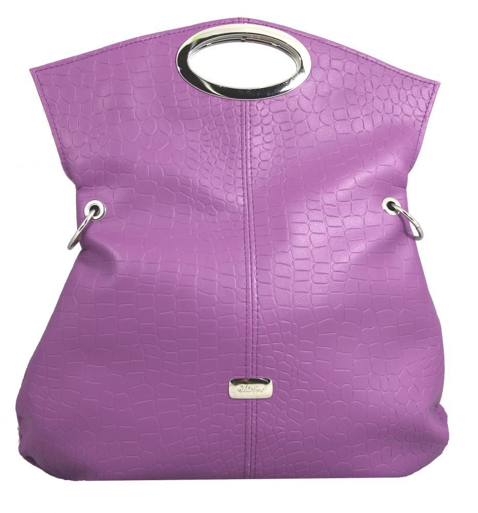 Moderní trendová multifunkční kabelka S137 fialková