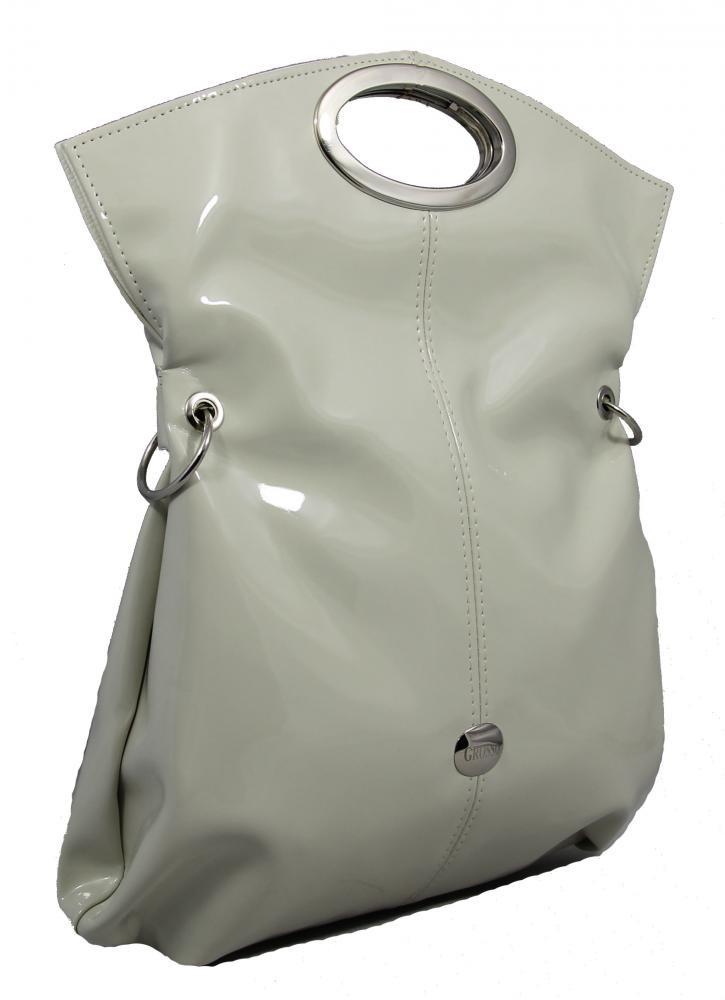 Moderní trendová multifunkční kabelka S137 krémová