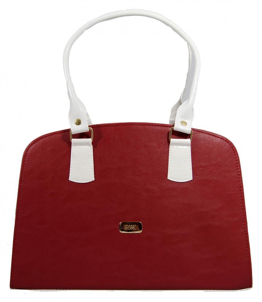 Originální červeno bílá matná kabelka na rameno S311