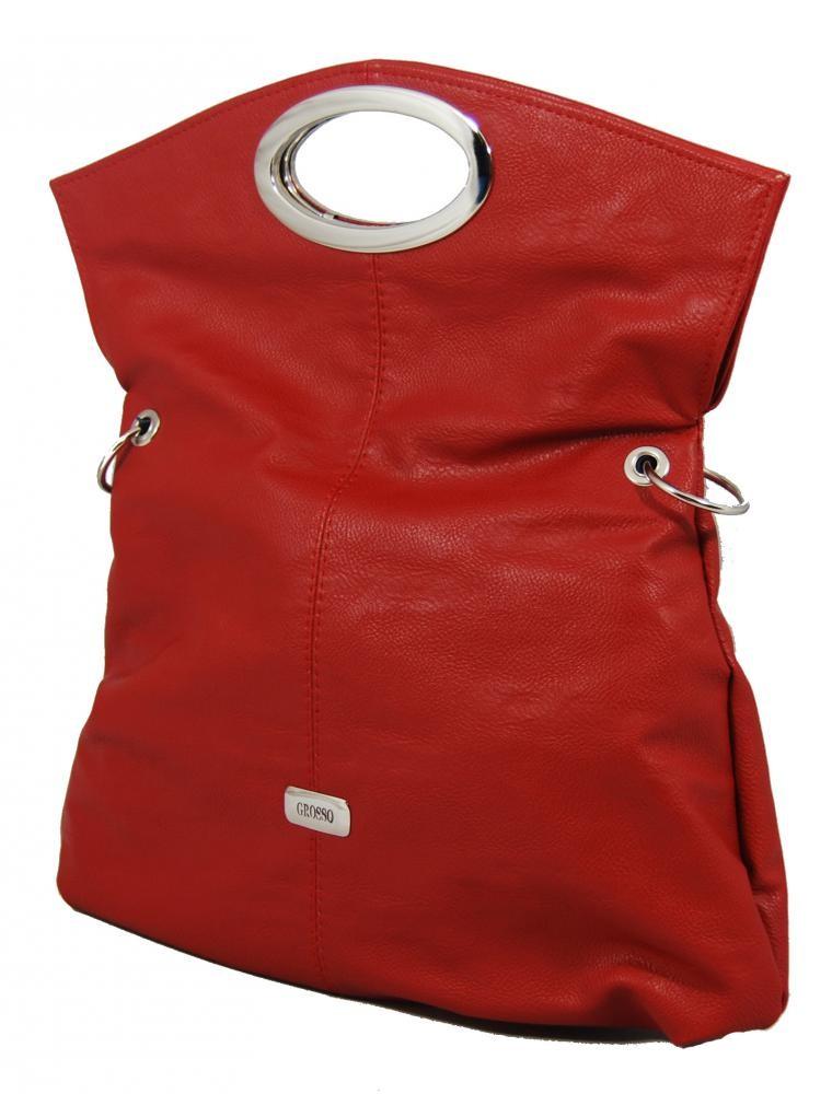Trendová multifunkční kabelka S137 červená Grosso
