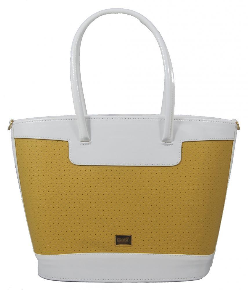 Bílo okrová kabelka na rameno S312