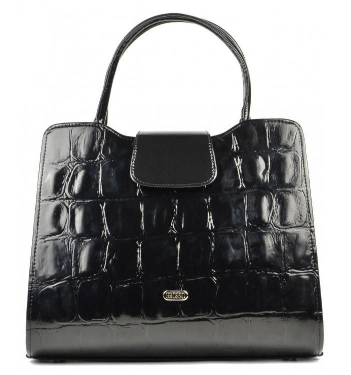 Černá želví matná kabelka do ruky S130