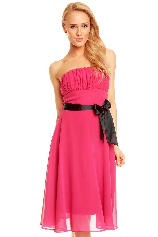 Společenské šaty růžové hs-sa392pi