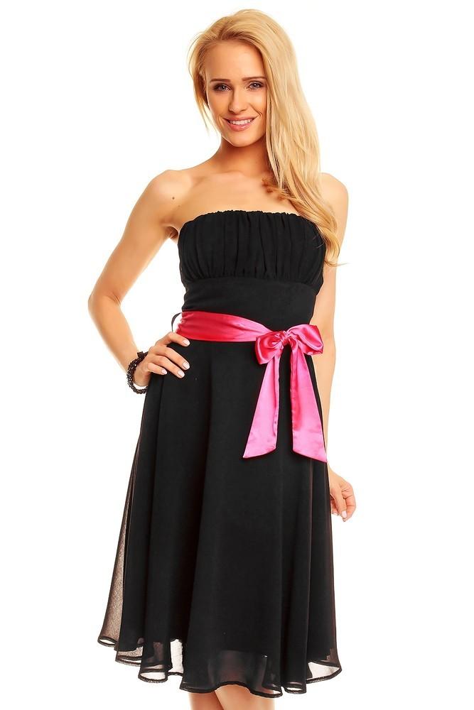 Společenské dámské šaty černé hs-sa392bl