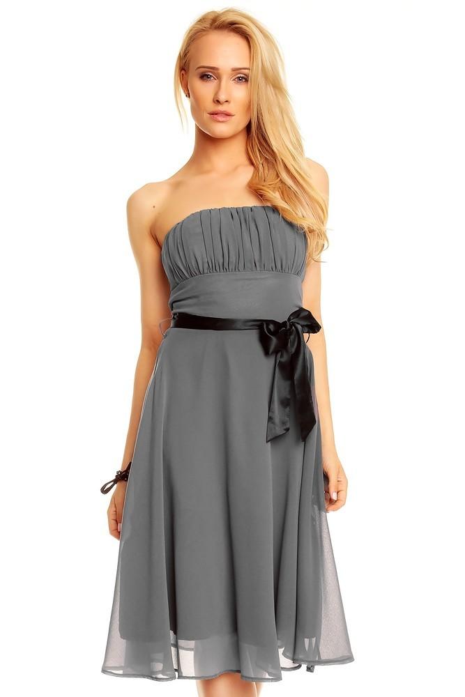 Společenské šaty - šedé hs-sa392gr