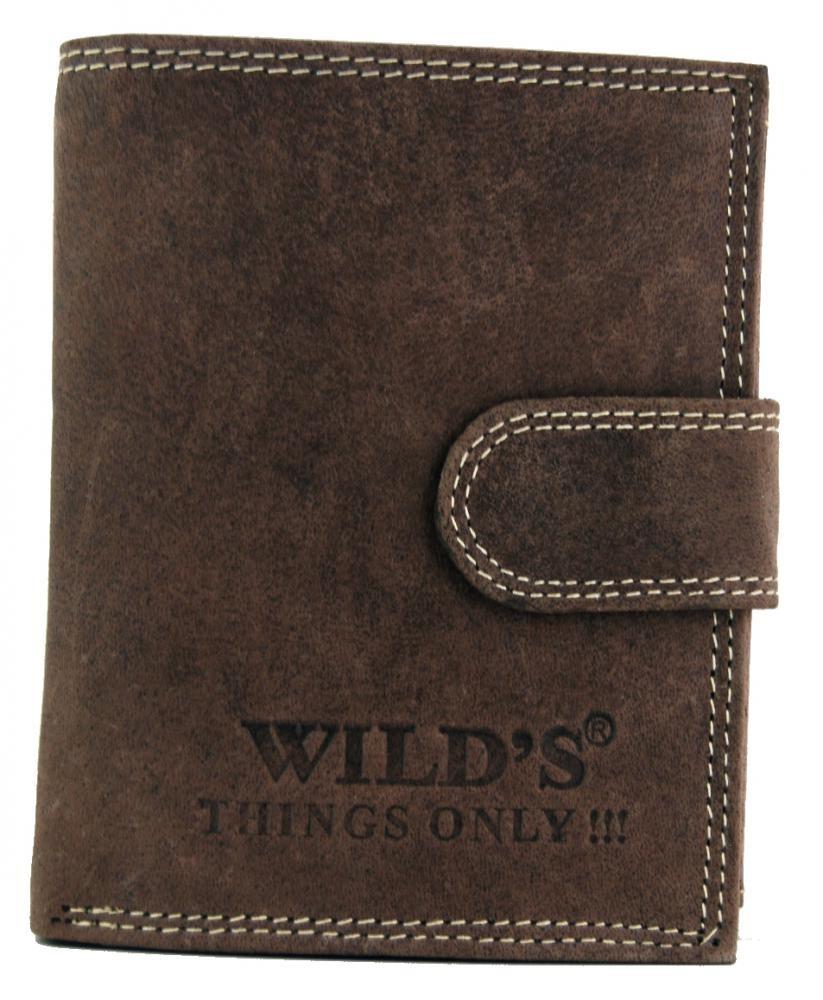 Pánská kožená peněženka WILD Tiger tmavě hnědá