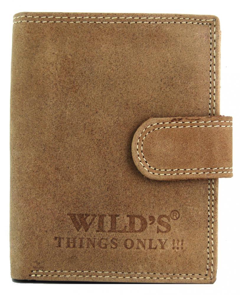 Pánská kožená peněženka WILD Tiger světle hnědá W01