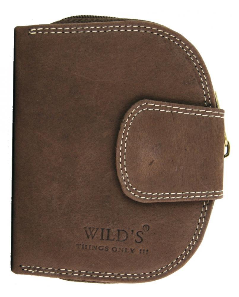 Pánská kožená peněženka WILD Tiger tmavě hnědá 2114
