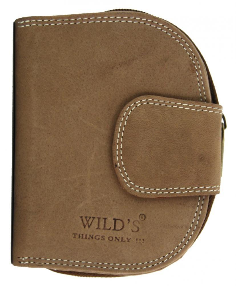 Pánská kožená peněženka WILD Tiger hnědá 2114