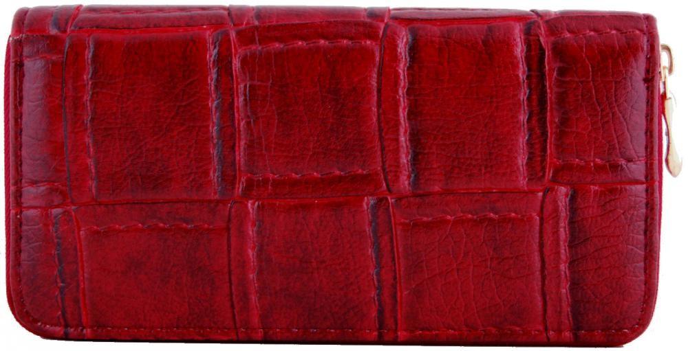 Moderní praktická dámská zipová peněženka ZF5055 červená