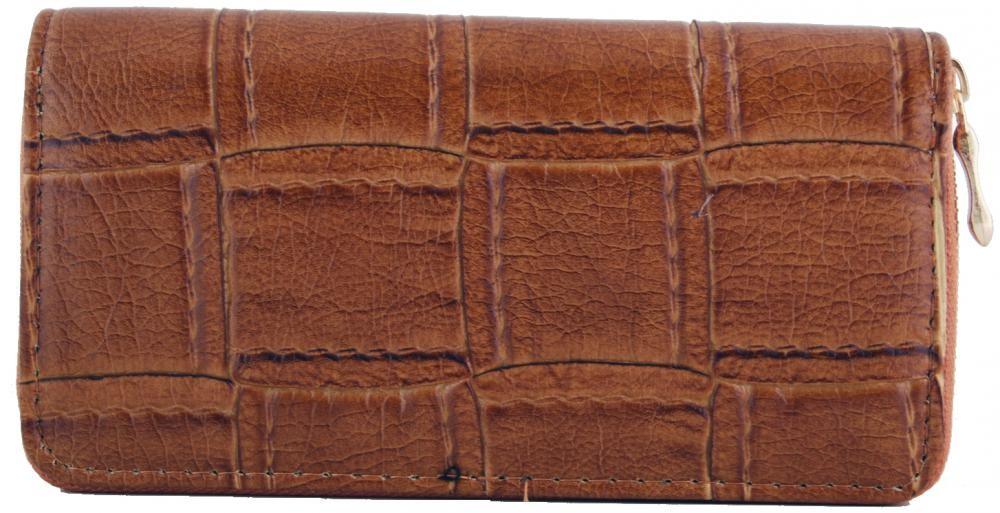 Moderní praktická dámská zipová peněženka ZF5055 hnědá
