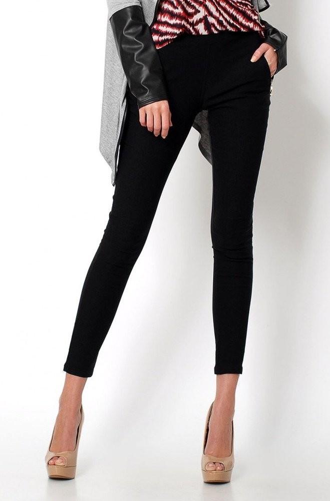 Dámské úzké černé kalhoty si-ka010