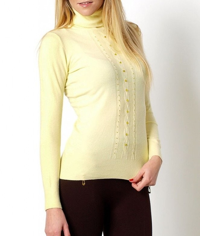 Dámský svetr s rolákem si-sv03le