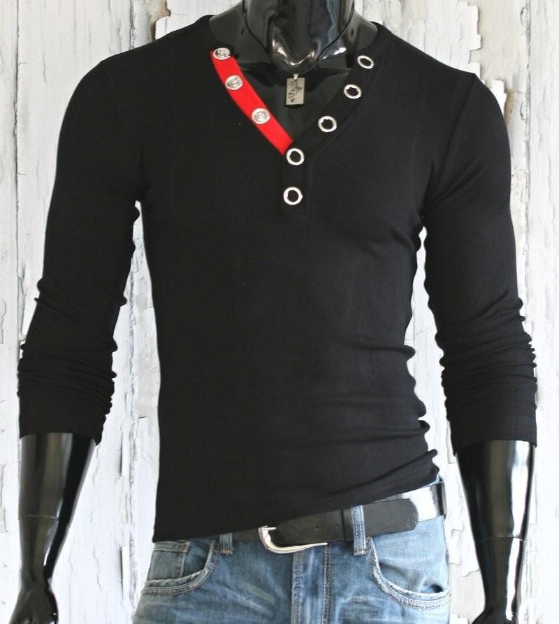 ec164230db56 Pánské tričko Slim Fit - černé p-tr24bl + soutěž