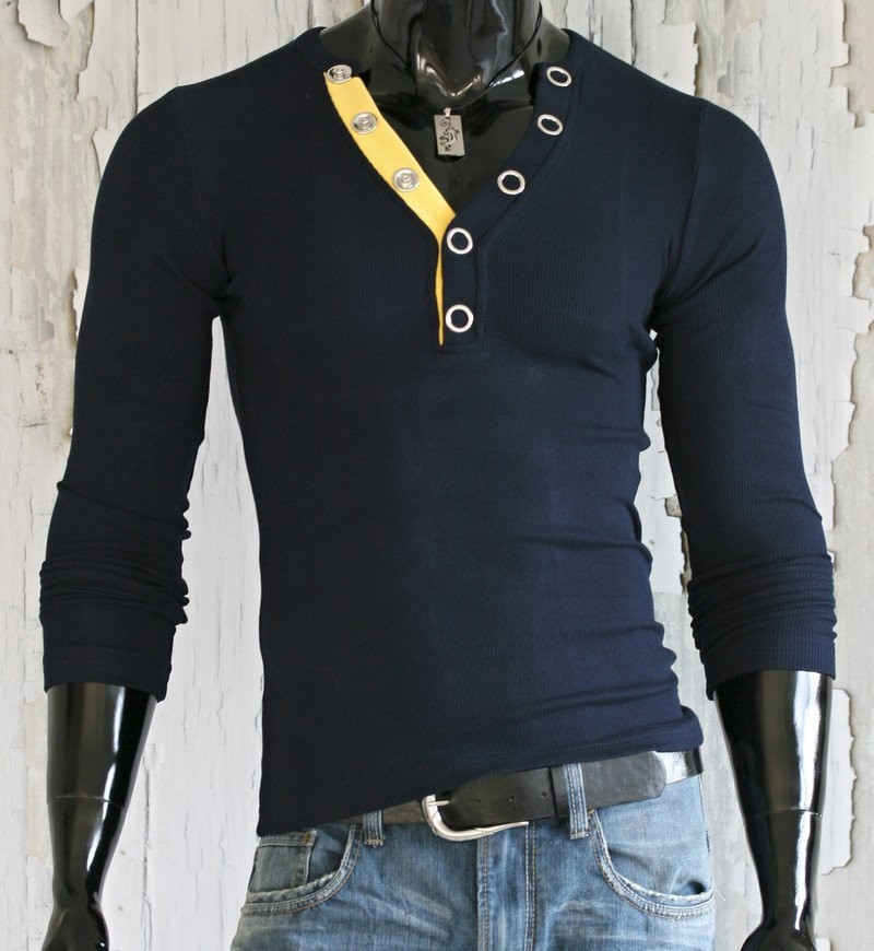 Pánské triko modré p-tr24na