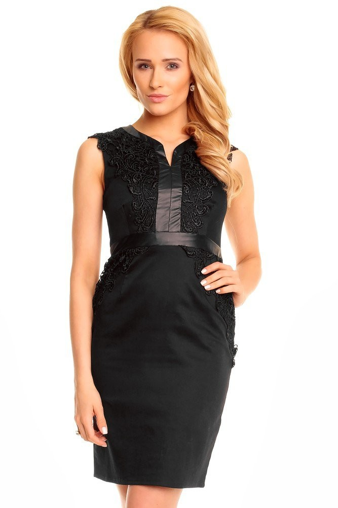 Pouzdrové elegantní šaty hs-sa409bl