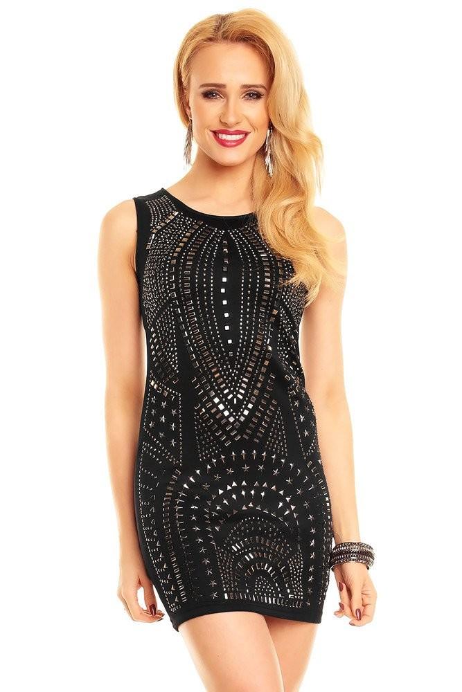 Černé šaty dámské hs-sa420