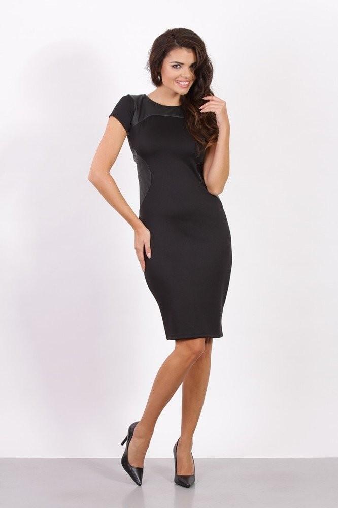 Dámské business šaty černé k2273bl