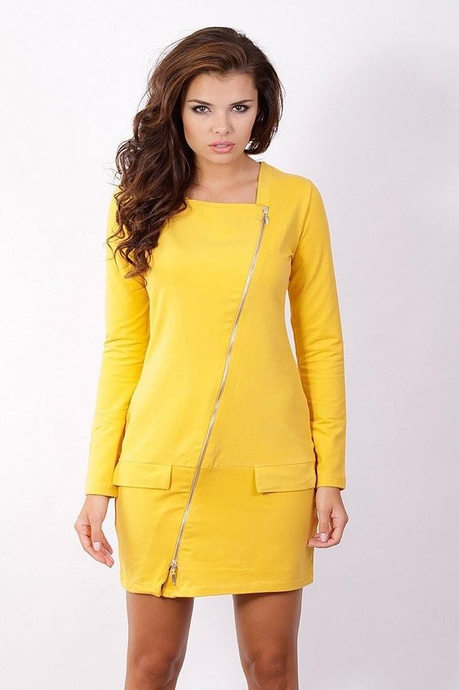 Dámské šaty - žluté k1913le