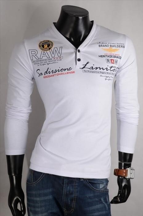 Pánská trička s dlouhým rukávem p-tr27wh
